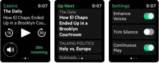 Castro Podcast App for Apple Watch