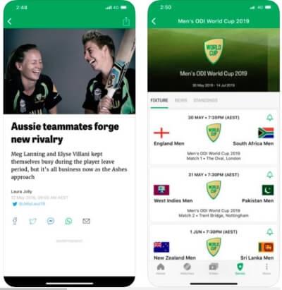 Cricket Australi Live for Worldcup 2019