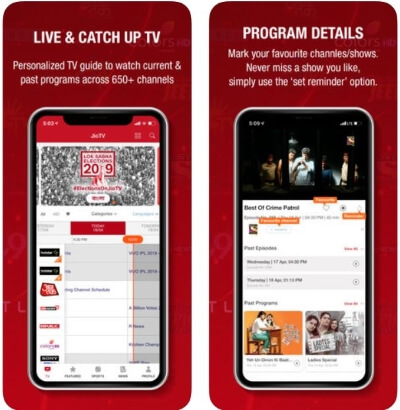 Find Live TV Streaming on your iOS device