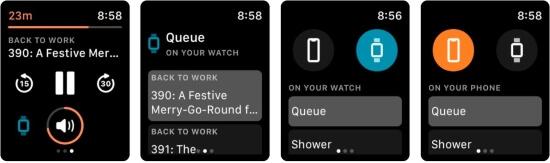 Overcast App for Apple Watch