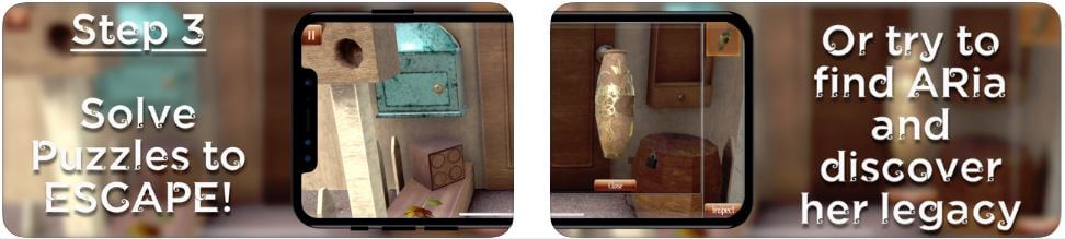 Aria AR Escape Room AR Game for iPod Touch