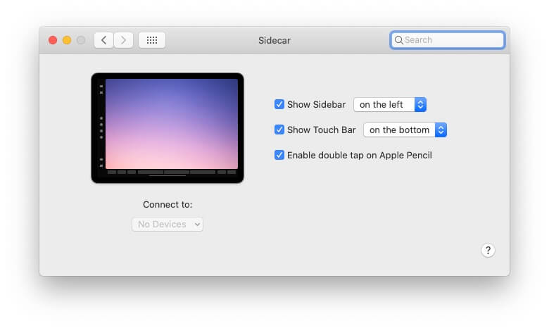 Connect to device not showing on Sidecar Mac