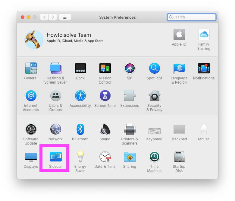 Sidecar In Mac System Preferences