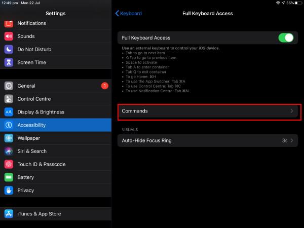 Change Custom Command on External Keyboard