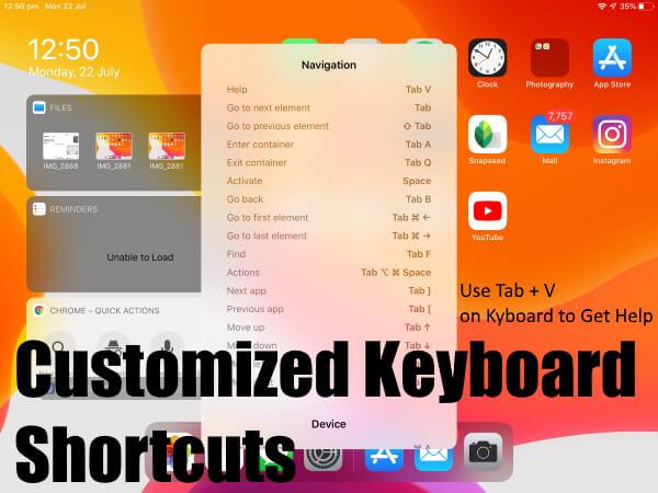 Customise or Change External Keyboard Shortcut on iPadOS