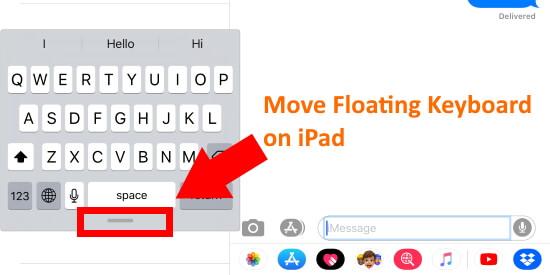 Move Floating Keyboard on iPad in iPadOS