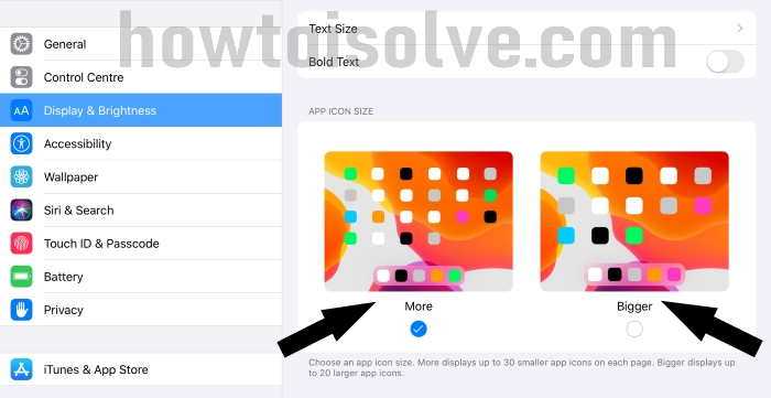 Change App Icon Size on iPad