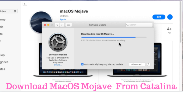 Download MacOS Mojave from MacOS catalina Mac App Store for Downgrade