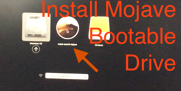 Install MacOS from Bootable Drive