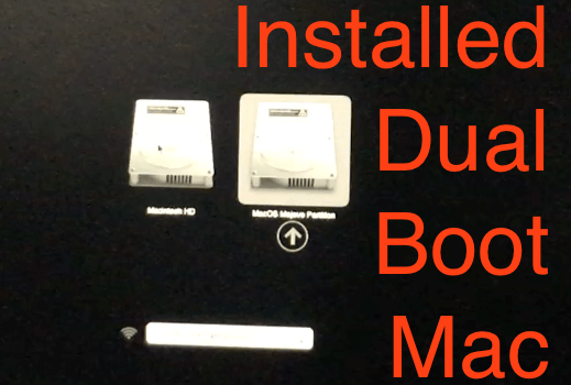 Installed MacOS on Dual Boot Mac
