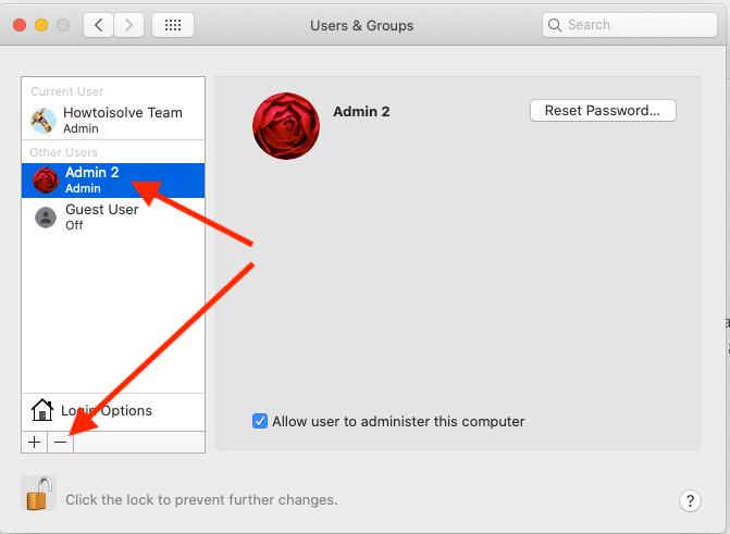 Remove or Delete Admin Username on Mac