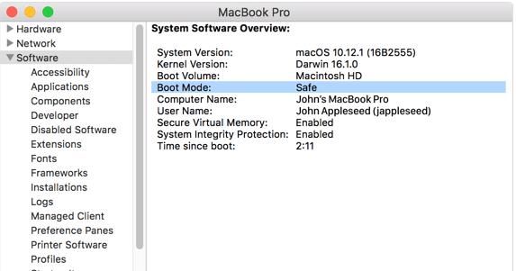Restart Mac in safe mode in MacOS Catalina