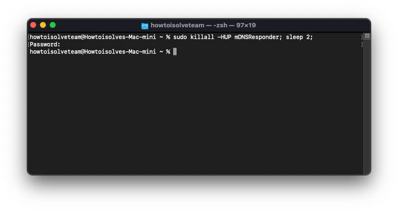 Flush DNS Cache Command Line for mac Run using Terminal