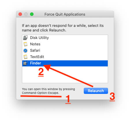Force Quite and Relaunch Finder on Mac