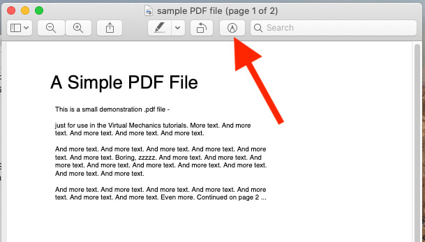 Edit Preview PDF or Picture using Markup tool on Mac