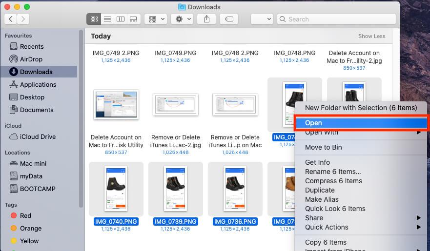 Open Photos in Preview mac App