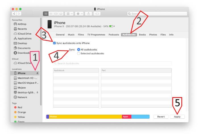 Sync Audiobooks on Mac
