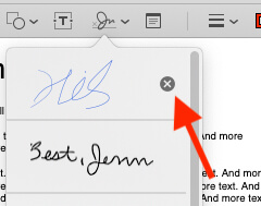 delete Saved Signature on Mac Preview