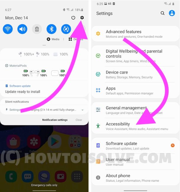 Accessibility Settings on Android Mobile