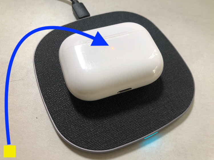 Charge Using Wireless Charging pad on Airpods Pro