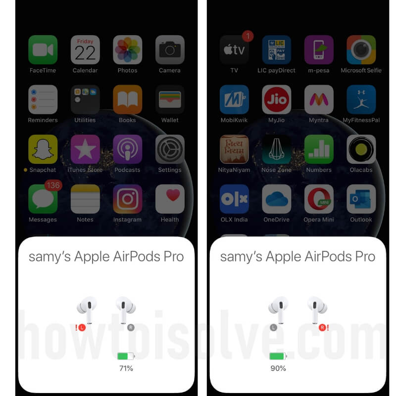 Red Exclamation Mark on Left or Right AirPods Pro-2-2