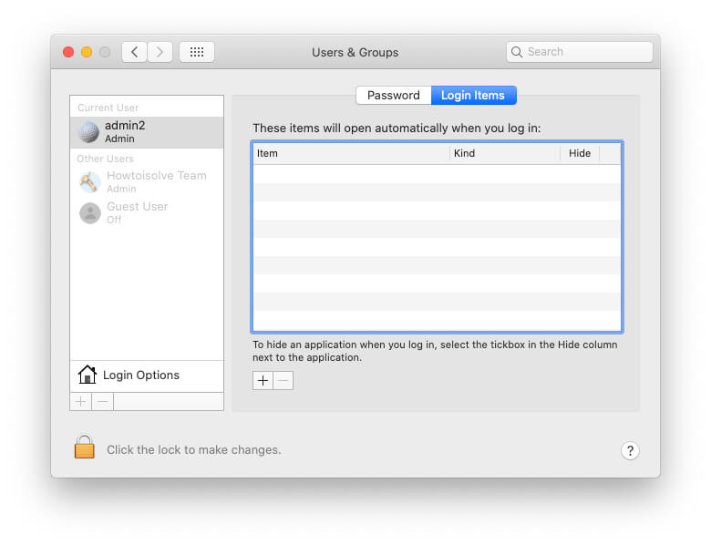 None off app will launch automatically on Mac Startup