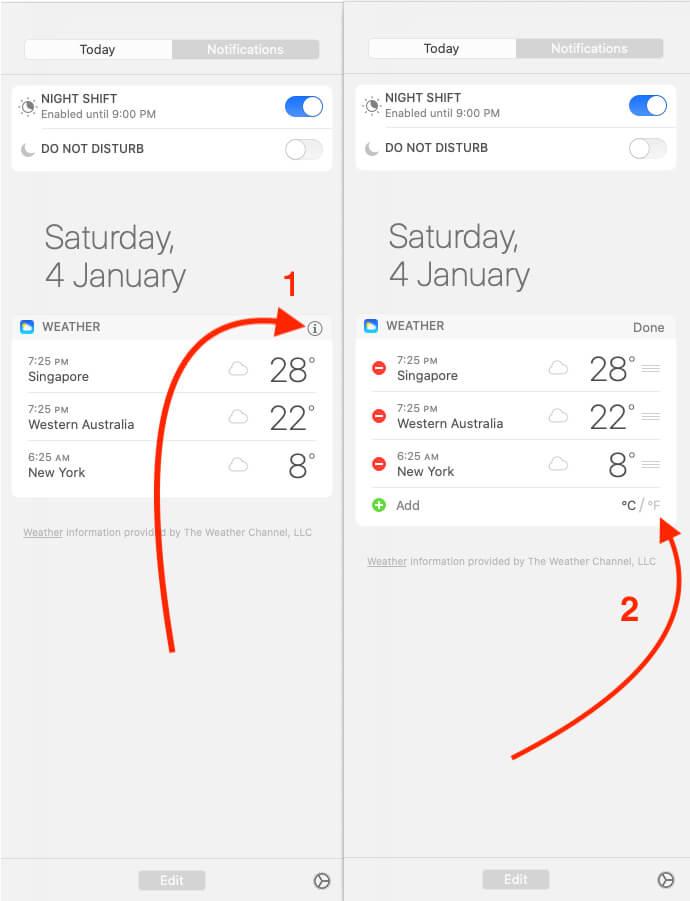 Convert Weather Temperature Celsius and Fahrenheit on Mac