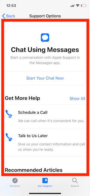 Schedule Customer Support with Call Chat