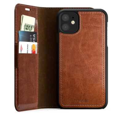 Crave Wooden Wallet Case for iPhone 11