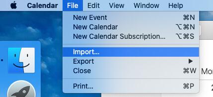 Import Facebook Event to Calendar app on MacBook Mac