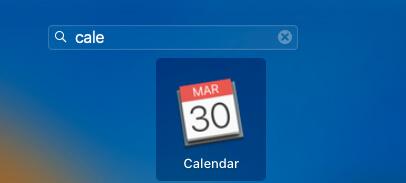 Open Calendar app on MacBook mac