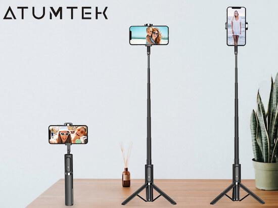 ATUMTEK Bluetooth Selfie Stick For iPhone