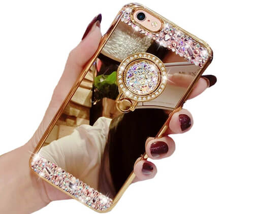 Black Lemon iPhone SE 2 Ring Holder Case for Girl