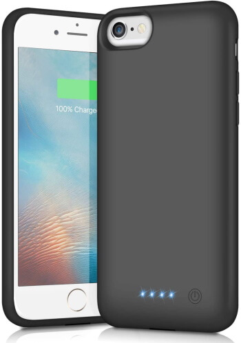Pxwaxpy Fast Charging Battery Case for iPhone SE 2
