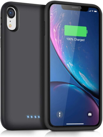 QTShine Rechargeable Battery Case for iPhone XR