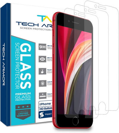 Tech Armor Premium Tempered Glass [3-Pack]