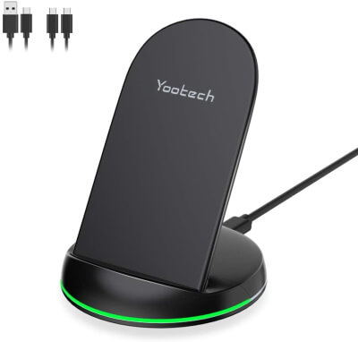 Yootech Wireless Charger Qi-Certified 10W Max Wireless Charging Stand