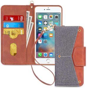best iPhone se 2 Folio Flip Wallet Case Cover for iPhone SE 2020