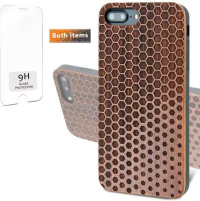 iProductsUS Geometric Wood Phone Case