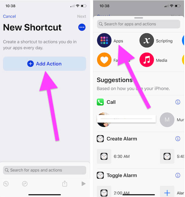 4 Create a Shortcut for app installed on your iPhone