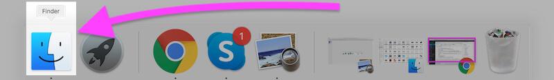 Open Finder on MacBook Mac
