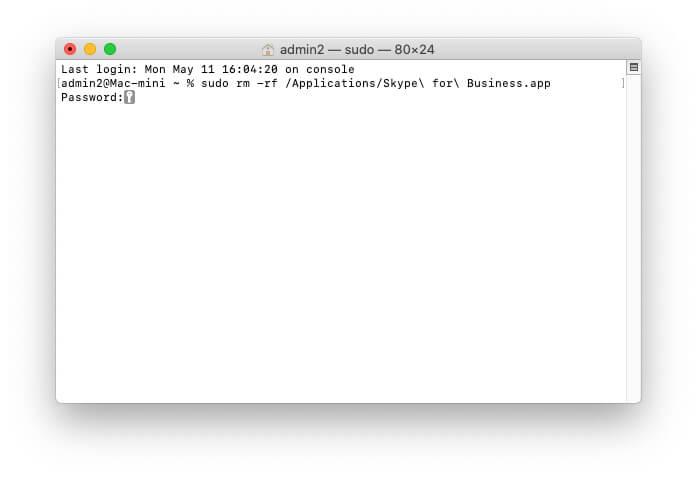 Remove Skype File Using Terminal on Mac for Clean uninstall Skype
