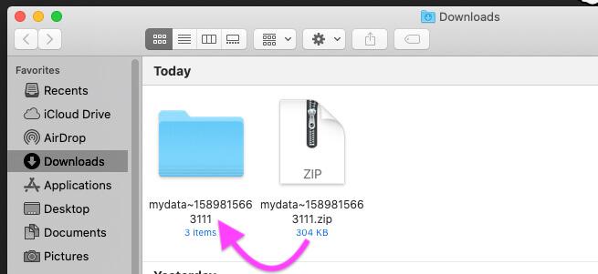 Unzip Zip Folder on Mac
