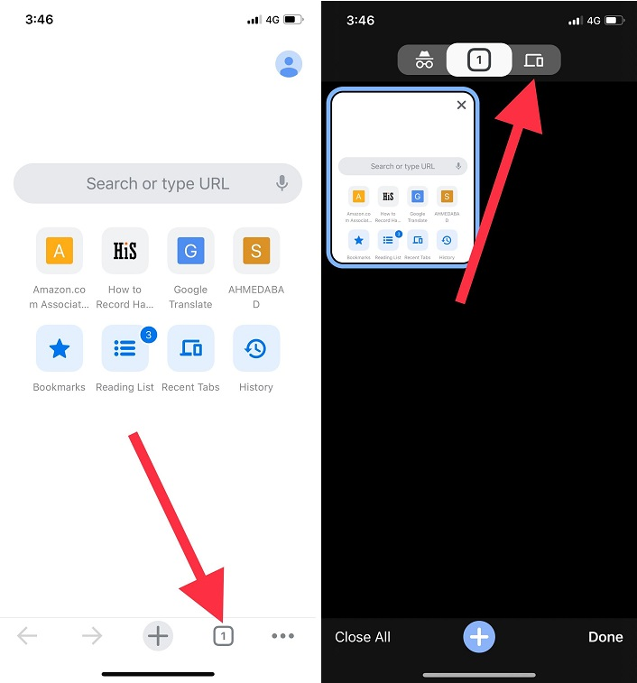 click on squre tab icon and then clcik on device icon tba appear on the top middle on the screen