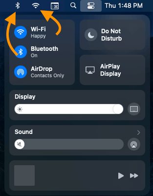 Add Shortcuts to Menu bar from Control center on MacOS Big sur