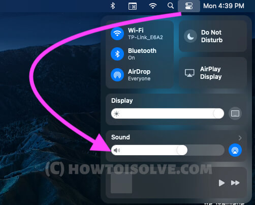 Change AirPods Pro sound from Mac Control Center