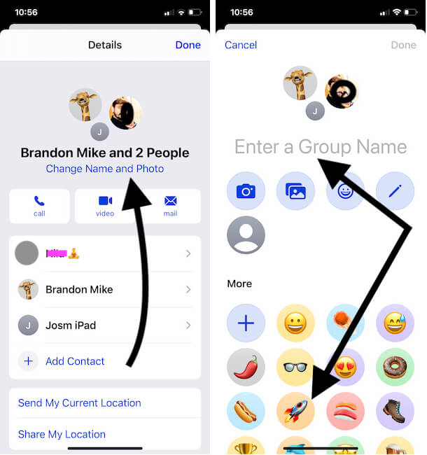 Change Group name and Photo on iPhone Imessage Conversation