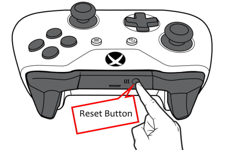 Press the Reset Button on Xbox Controller