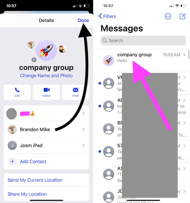 Save Group name and Group Profile photo on iPhone messages app