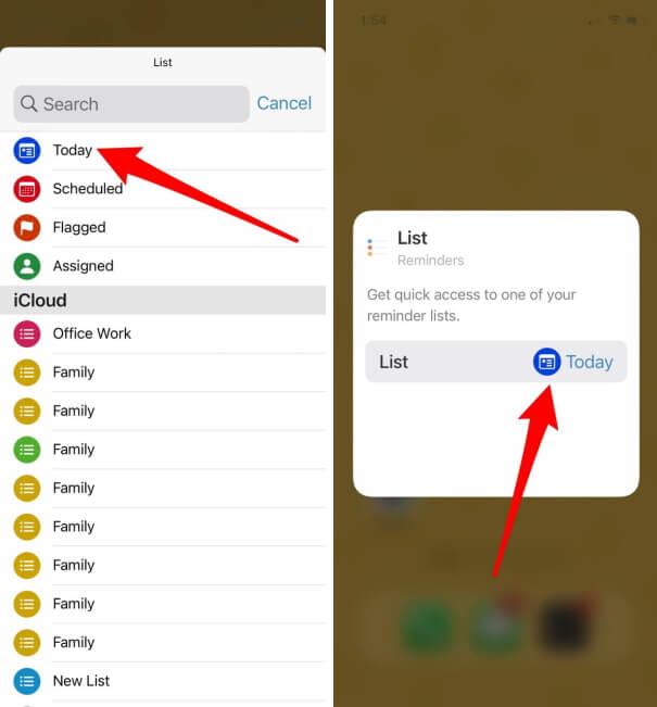 Choose Reminder Folder